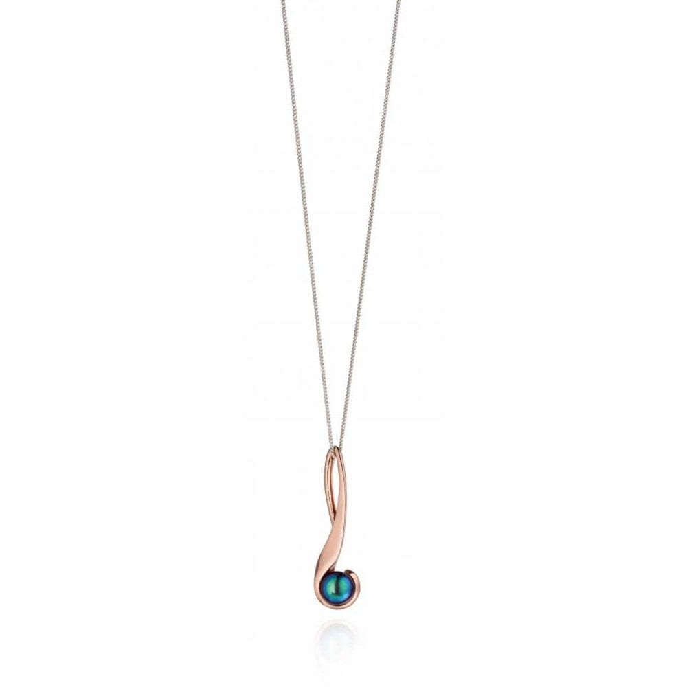 Fiorelli Rose Gold Black Pearl Necklace Jewellery From Francis Gaye Jewellers Uk