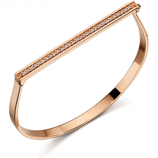 Rose Gold Hinged Bangle