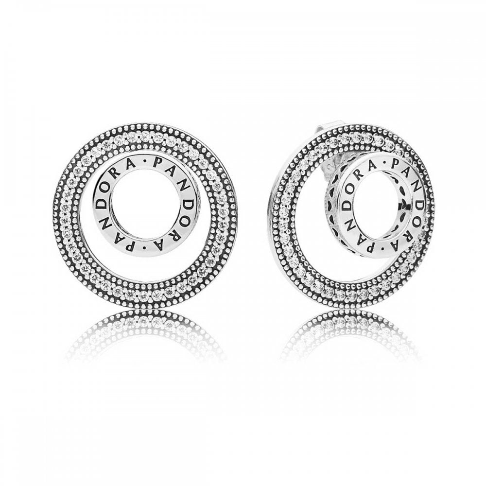 9952c81e6 Pandora Forever PANDORA Signature Stud Earrings - Jewellery from ...