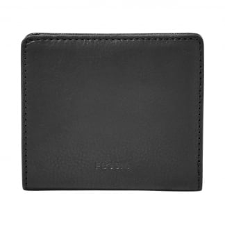 Black Emma RFID Mini Bi-Fold Wallet