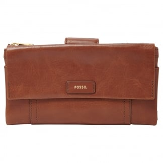Brown Ellis Clutch Purse
