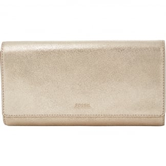 Hellgold Metallic Emma RFID Flap Clutch Purse