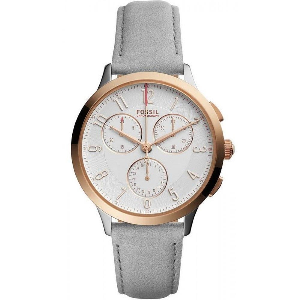 fossil ladies abeline rose gold chronograph watch watches from francis gaye jewellers uk. Black Bedroom Furniture Sets. Home Design Ideas
