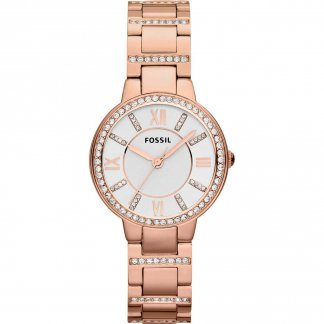 Ladies Glitzy Rose Gold Virginia Watch ES3284