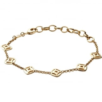 Ladies Gold Multi Station Bracelet JF00006710