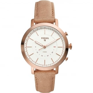 Ladies Hybrid Q Neely Rose Gold Leather Smartwatch
