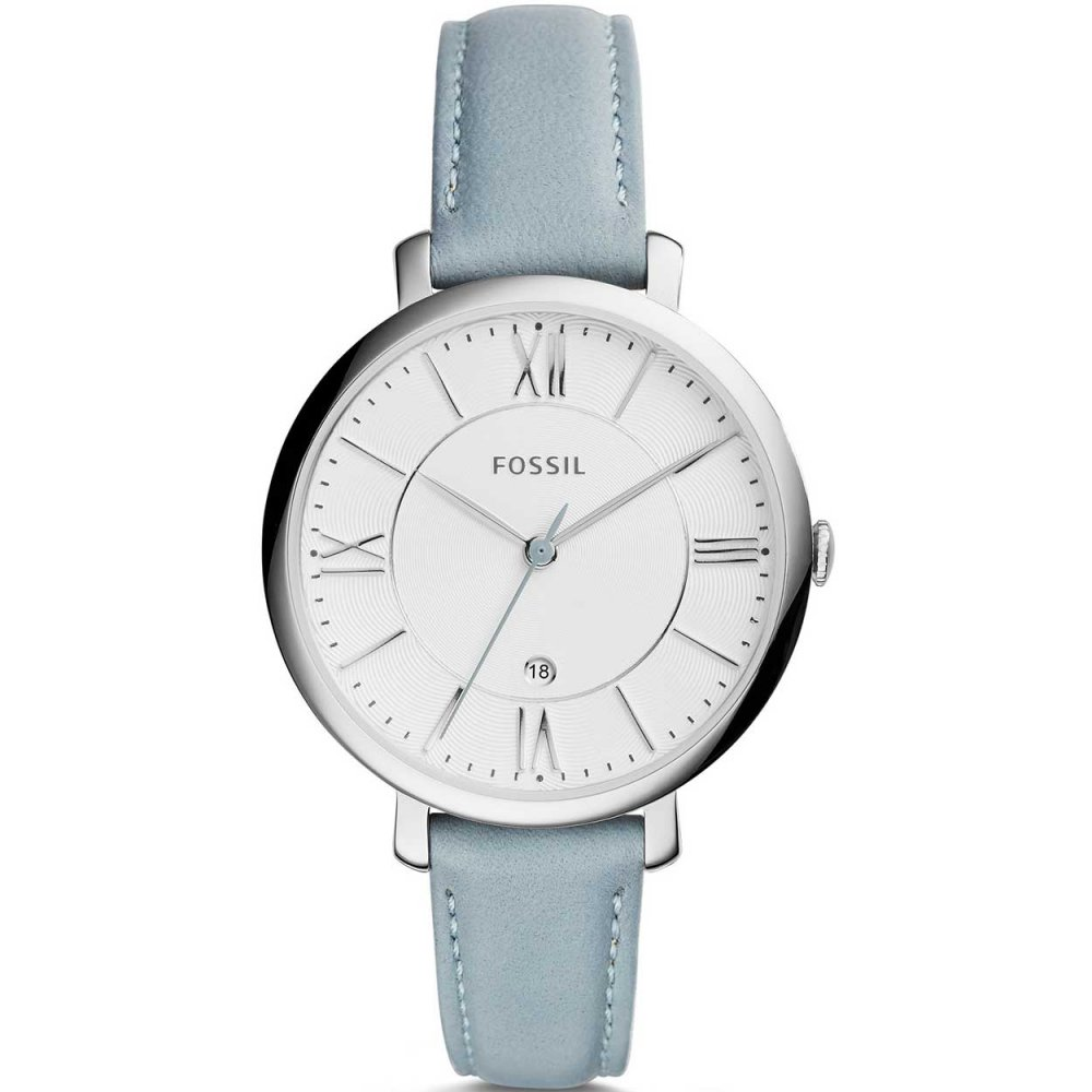 Fossil Ladies Jacqueline Ice Blue Leather Watch