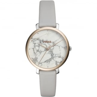 Ladies Jacqueline Marble Effect Leather Watch