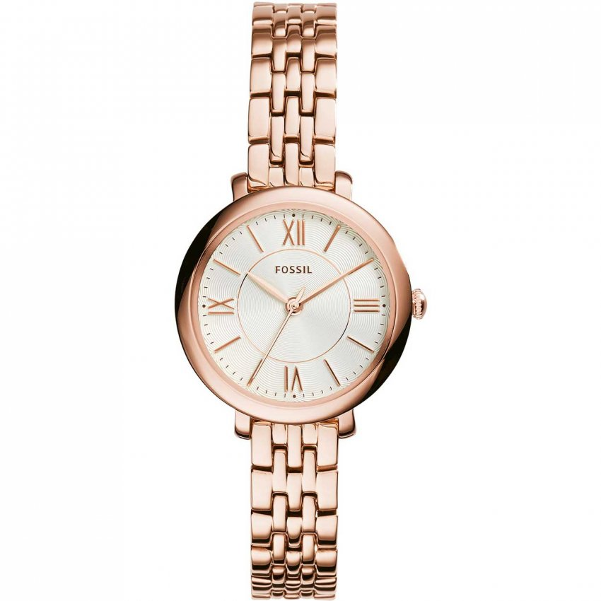 fossil ladies rose gold plated jacqueline watch watches. Black Bedroom Furniture Sets. Home Design Ideas