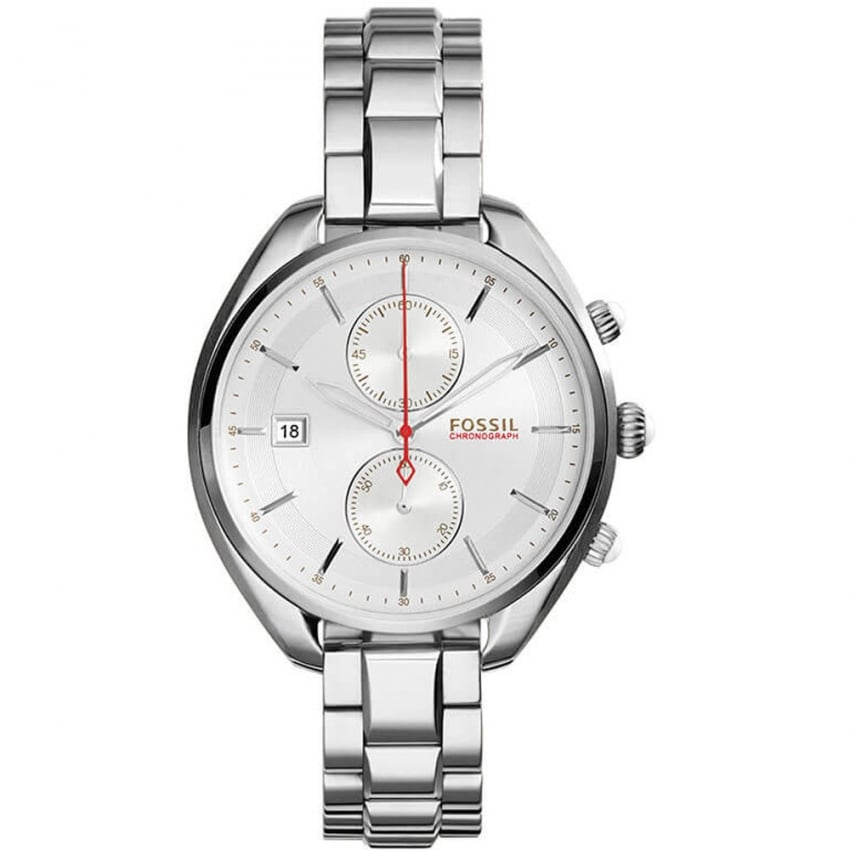 Fossil Ladies Silver Chronograph Land Racer Watch CH2975