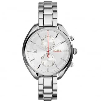 Ladies Silver Chronograph Land Racer Watch