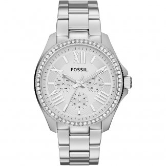 Ladies Steel Bracelet Cecile Watch with Stone Set Bezel AM4481