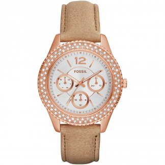 Ladies Stella Multifunction Sand Leather Watch ES3816