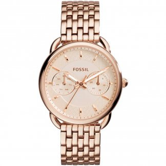Ladies Tailor Rose Gold Plated Day/Date Watch ES3713