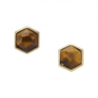 Ladies Tigers Eye Earring Studs JA5685710