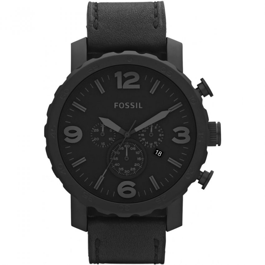 Fossil Men's All Black Oversized Nate Watch JR1354