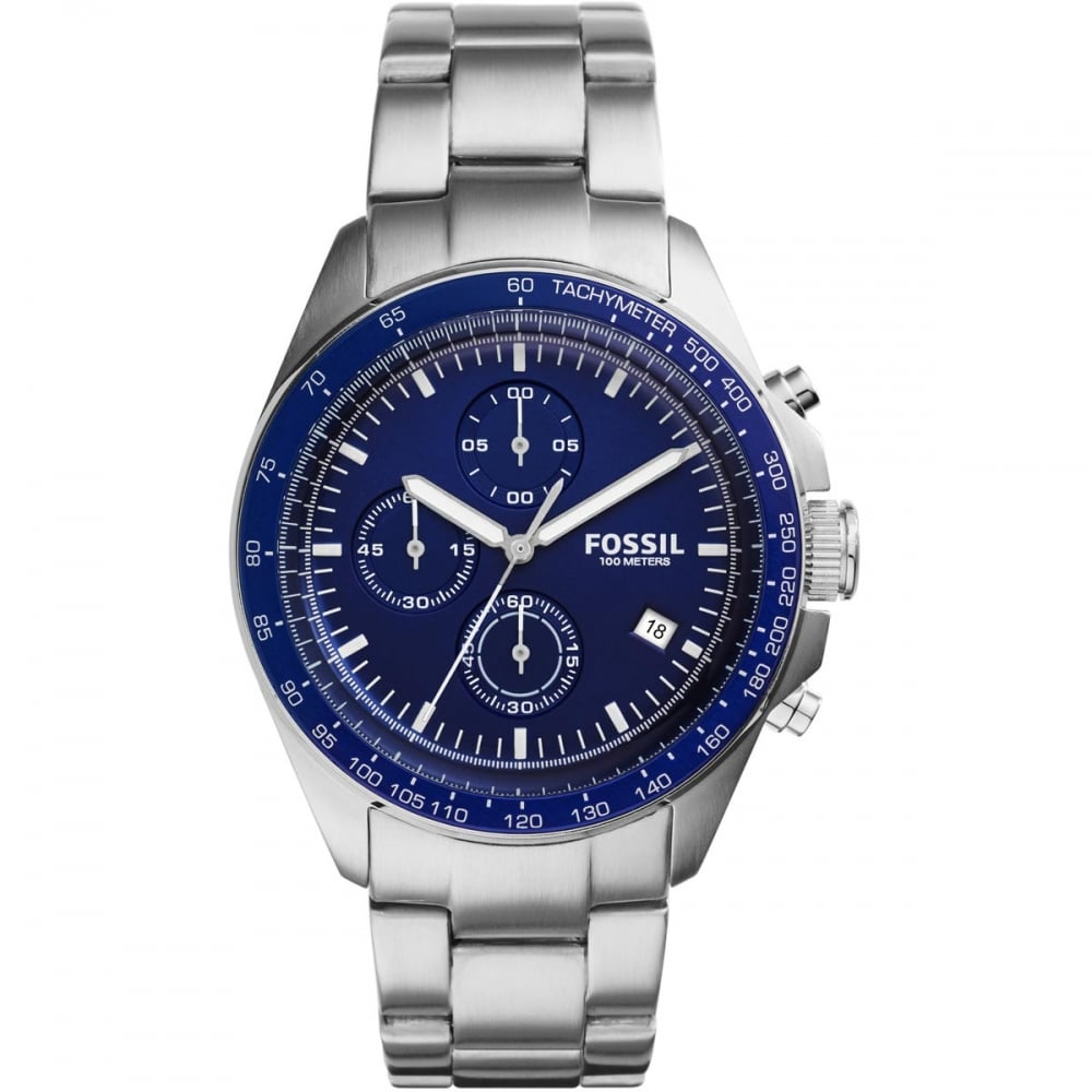 c9cdcbad2a6 Fossil Men s Chronograph Blue Dial Sport 54 Watch Product Code  CH3030