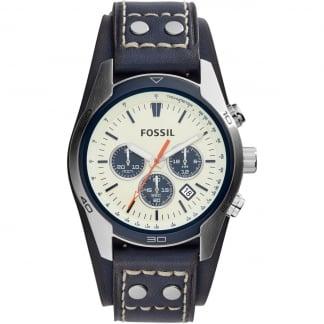 Men's Coachman Blue Cuff Chronograph Watch CH3051