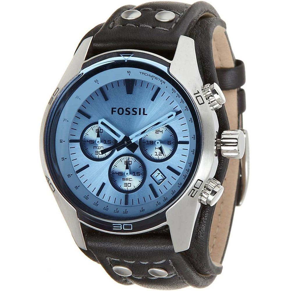 fossil men 39 s coachman sport cuff chronograph watch. Black Bedroom Furniture Sets. Home Design Ideas