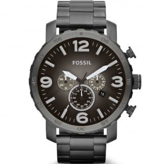 Men's Nate Oversized Gunmetal Chronograph Watch