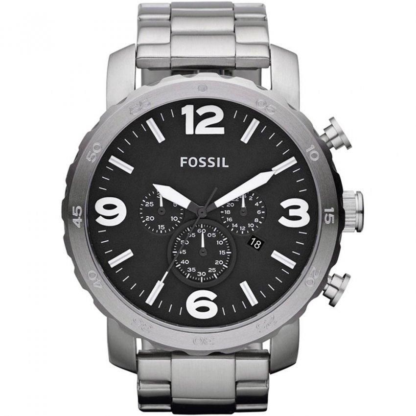 Fossil Men's Oversized Steel Nate Chronograph Watch JR1353
