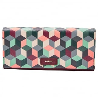 Plum Abstract Ellis 29 Clutch Purse