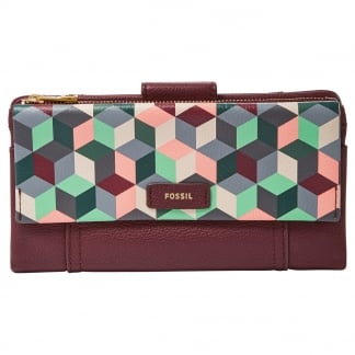 Plum Abstract Ellis Clutch Purse
