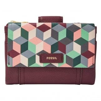 Plum Abstract Ellis Multifunction Purse