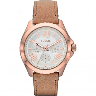 Women's Brown Leather Strap Cecile Watch