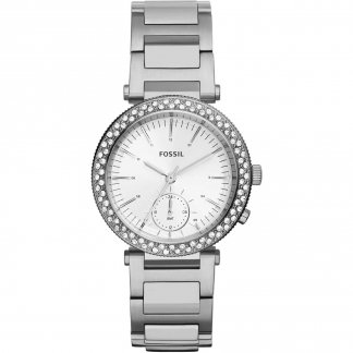 Women's Silver Urban Traveler Glitzy Bezel Watch ES3849