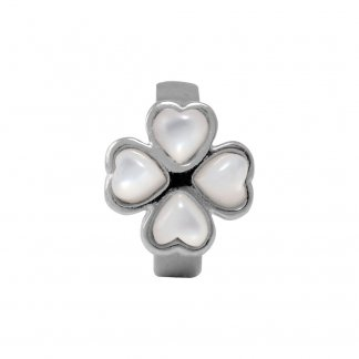 Foursome Pearl Silver Charm