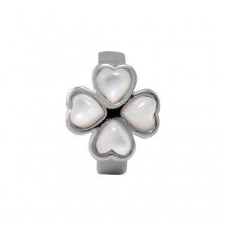 Foursome Pearl Silver Charm E21411