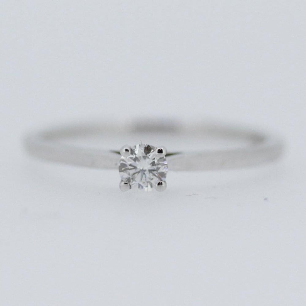 Francis & Gaye 18ct White Gold 0 15ct Four Claw Diamond Solitaire Ring