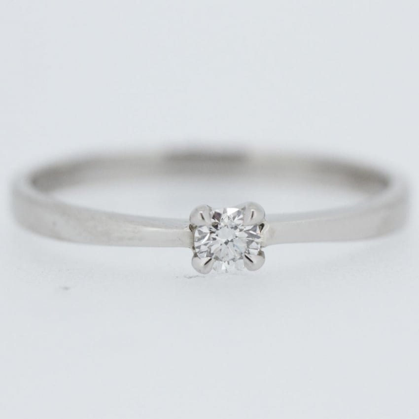 Francis & Gaye Palladium 0.15ct Diamond Solitaire Ring EN82R15