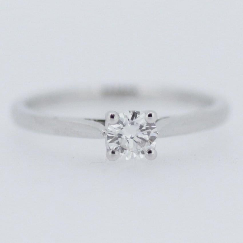 Francis & Gaye Platinum 0.30ct Round Brilliant Diamond Solitaire Ring RX09772