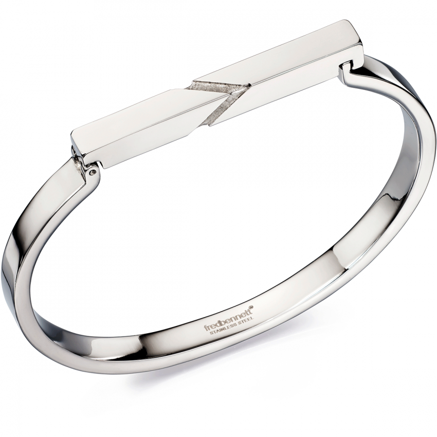 Fred Bennett Etched Top Bar Bangle B4805