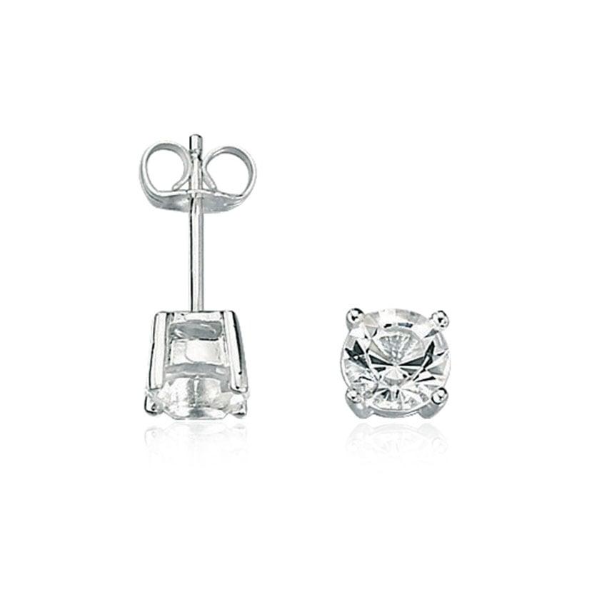 Fred Bennett Men's Clear Stone Earring Studs E2657C