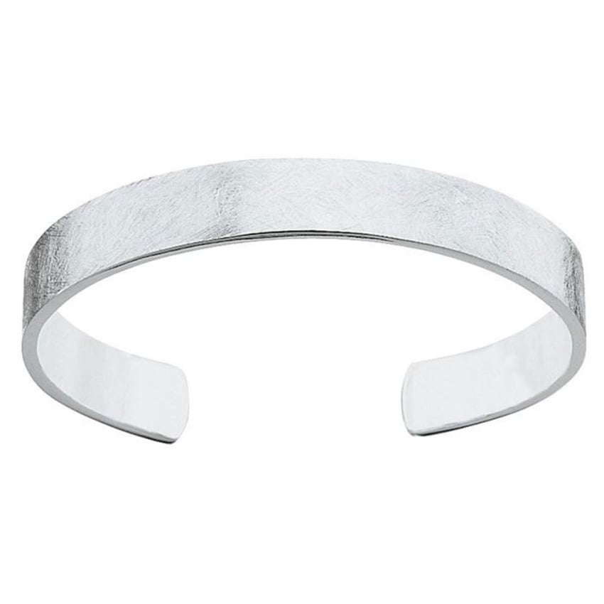 Fred Bennett Men's Textured Silver Torque Bangle B750