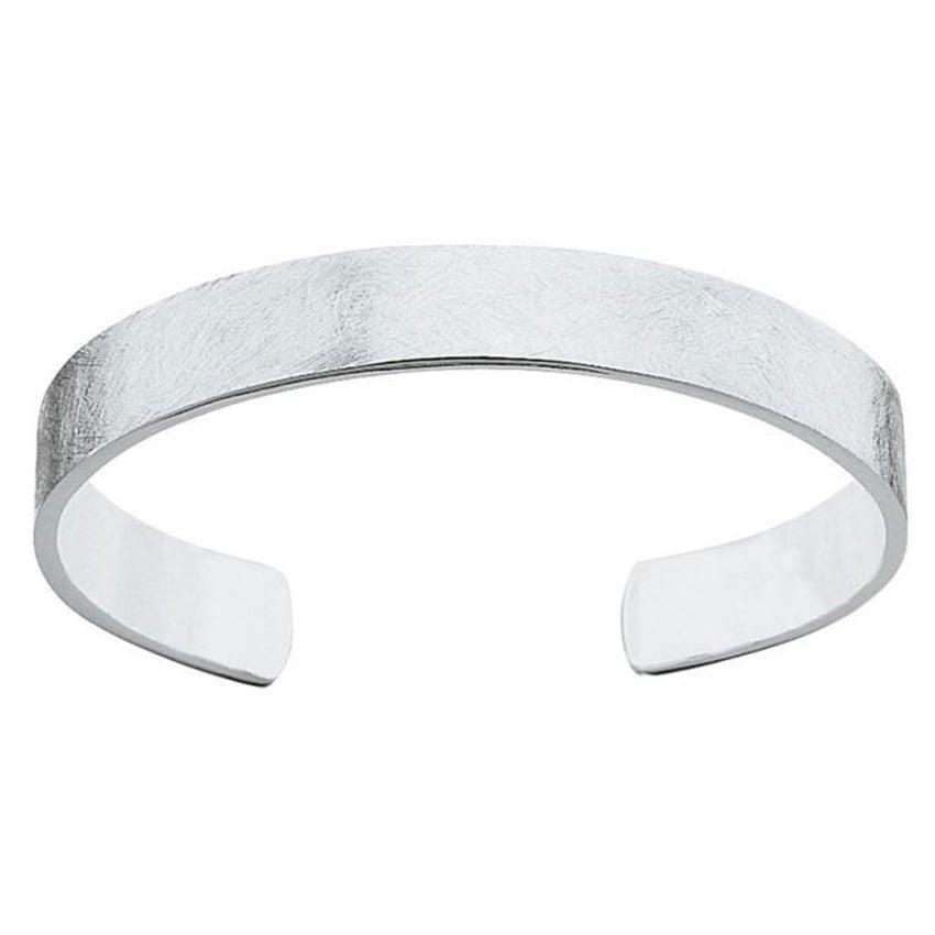Fred Bennett Men's Textured Silver Torque Bangle B750