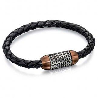 Men's Woven Barrel Bracelet B4686