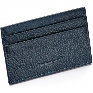 Navy Blue Leather Card Holder
