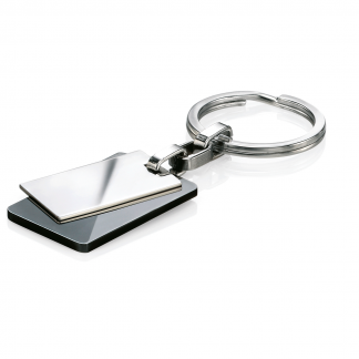 Steel and Black PVD Keyring