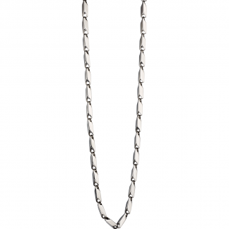 Steel Irregular Tube Link Necklace