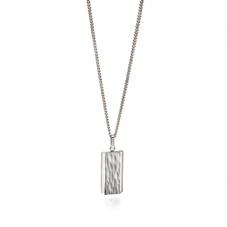 Textured Steel Necklace