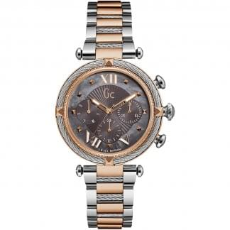 Ladies CableChic Rose Gold/Silver Chronograph Watch