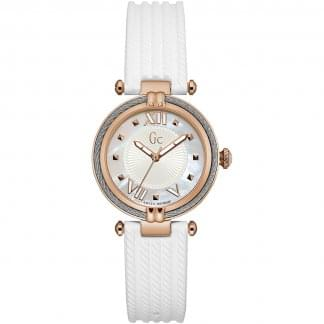 Ladies CableChic Rose/White Silicone Watch
