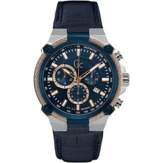 Ladies CableForce Rose Gold/Blue Chronograph Watch