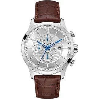 Men's Executive Chronograph Leather Watch
