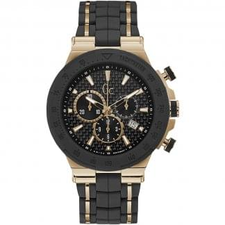 Men's Structura Sport Black/Gold Chronograph Watch