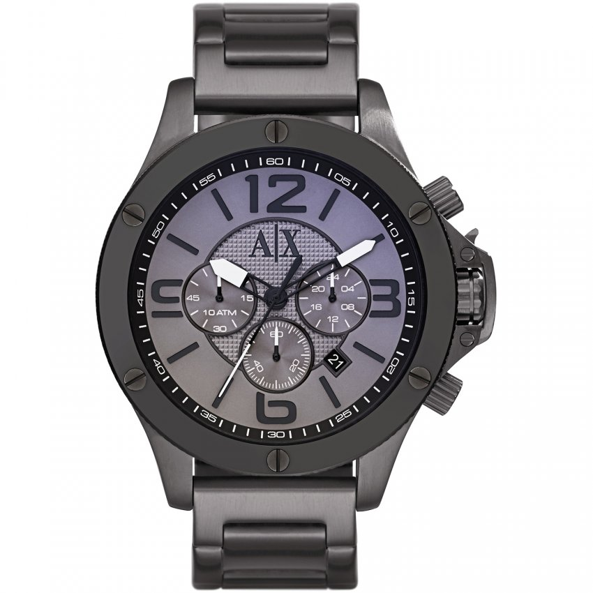 Armani Exchange Gent's Black PVD Chronograph Watch AX1514